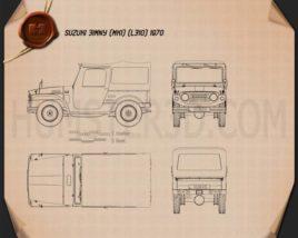Suzuki Jimny 1970 car clipart