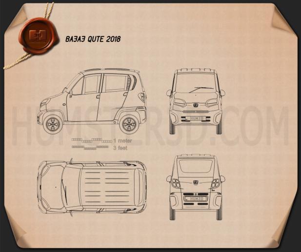 Bajaj Qute 2018 car clipart