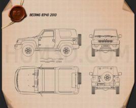 Beijing BJ40 2013 car clipart