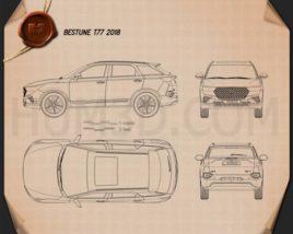 Bestune T77 2018 car clipart
