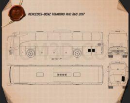 Mercedes-Benz Tourismo RHD Bus 2017 Clipart