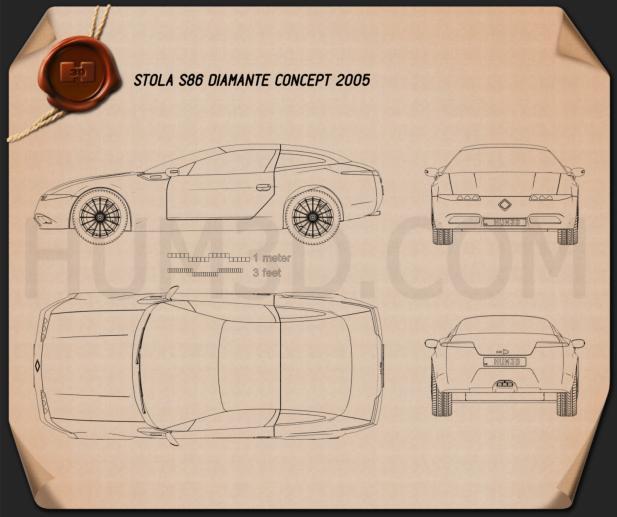 Stola S86 Diamante 2005 car clipart