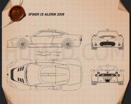 Spyker C8 Aileron 2008 car clipart