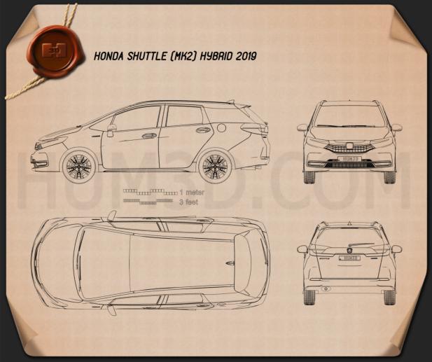 Honda Shuttle hybrid 2019 Clipart Image