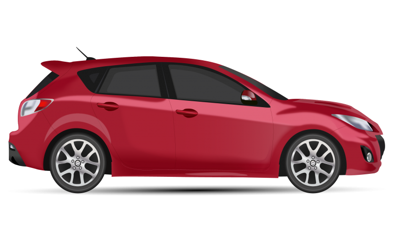 Generic Hatchback Side view Clipart Image