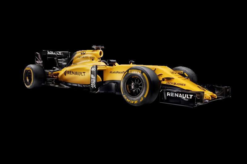Renault RS16 Formula 1 Race Car Clipart Image