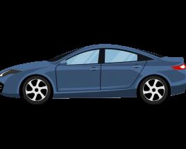 Sedan side view