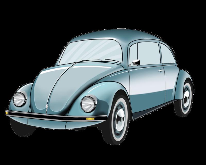 Volkswagen Beetle stylized Clipart Image