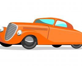Orange Cartoon Classic Car