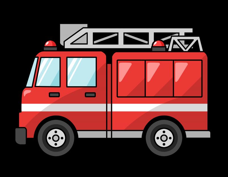 Cartoon Fire Truck Clipart Image