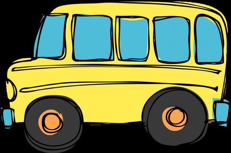 Cartoon School Bus Clipart Image