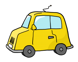 Cartoon Yellow Car transparent background
