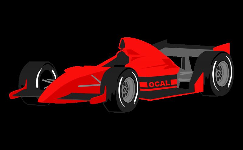 F1 Racing car Clipart Image