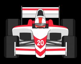 Formula 1 car front view