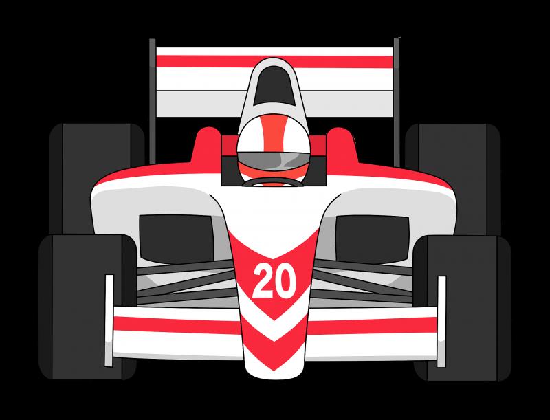Formula 1 car front view Clipart Image