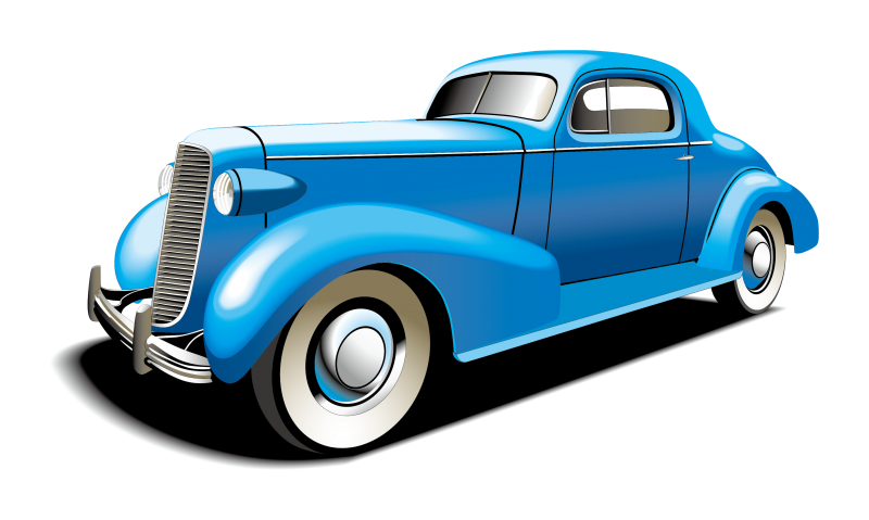 Luxury Vintage Car Clipart Image
