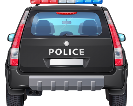 Police Car SUV Back view