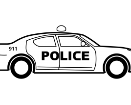 Black and white Police Car