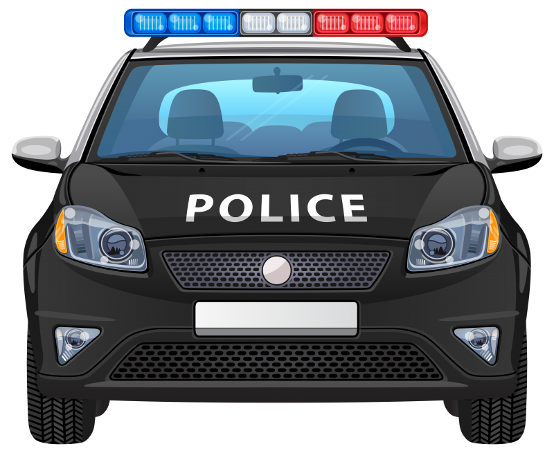Front view stock Police Auto Picture Clipart Image