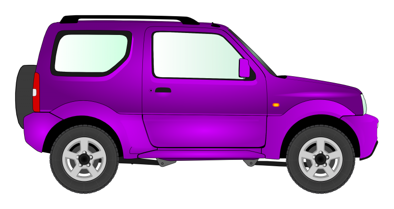 Small SUV Side view Clipart Image