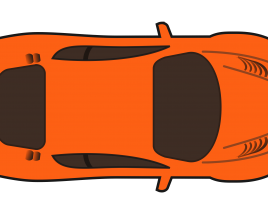Sports Car Top view