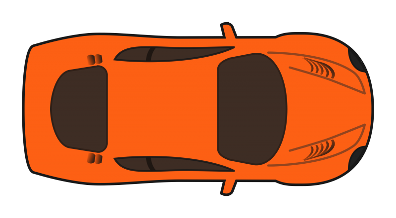 Sports Car Top view Clipart Image