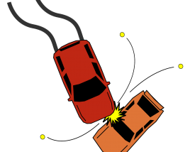 Top view Car Crash Image