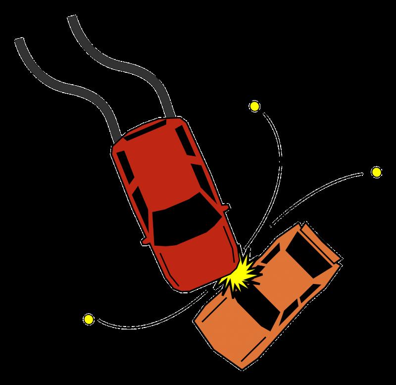 Top view Car Crash Image Clipart Bild