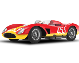 Ferrari Retro Race car