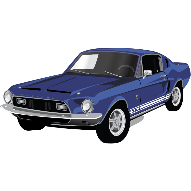 Ford Mustang Muscle car Clipart Image