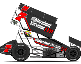 Sprint car side view