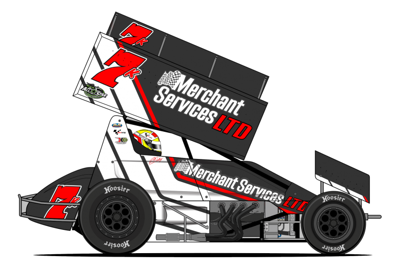 Sprint car side view Clipart Image