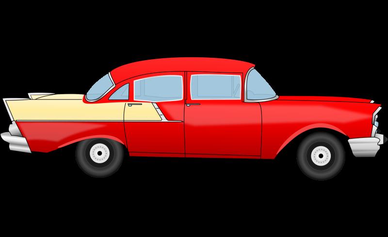 Vintage car Side view Clipart Image