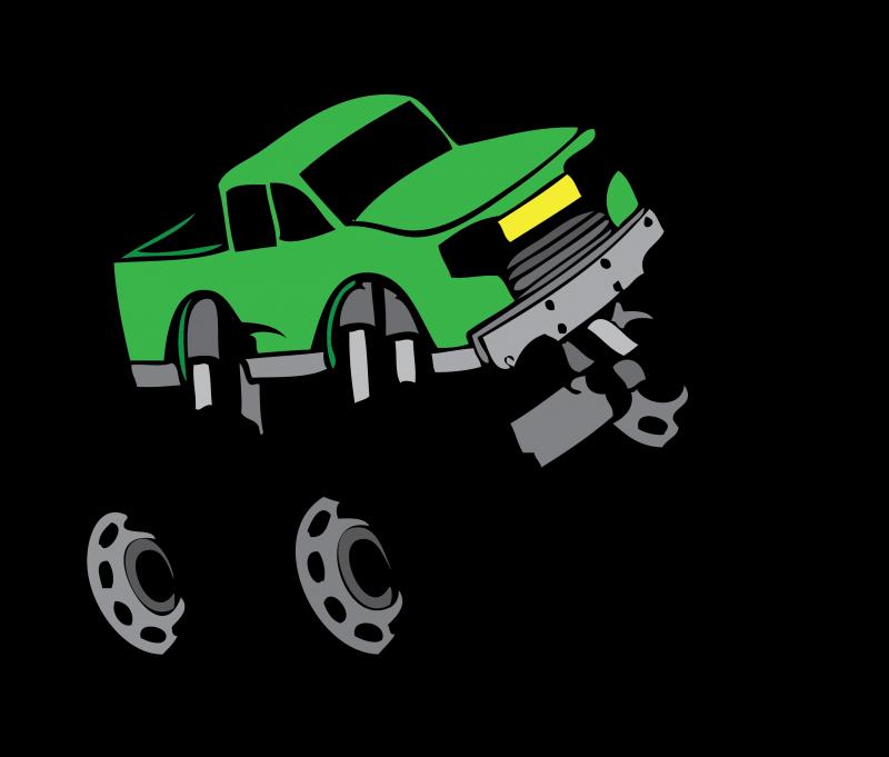 Cartoon Monster Truck Clipart Bild