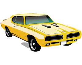 Generic Yellow Muscle car