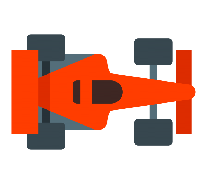 Red Race car Clipart Image