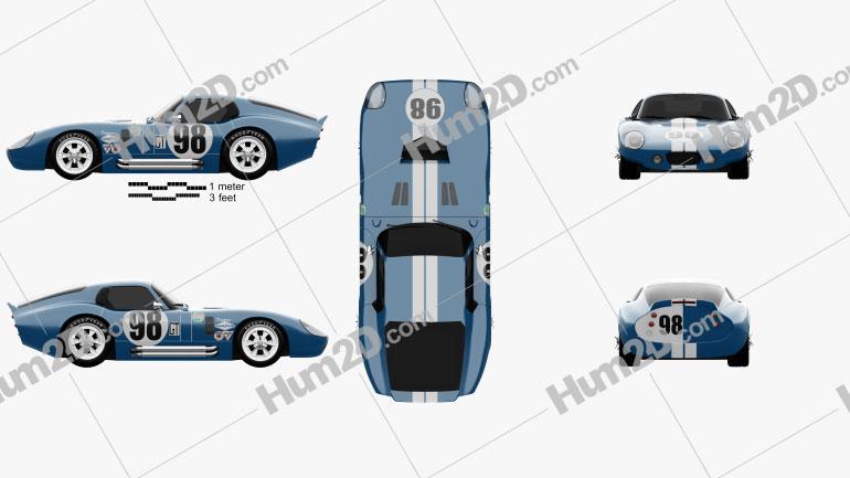 Shelby Cobra Daytona 1964 car clipart