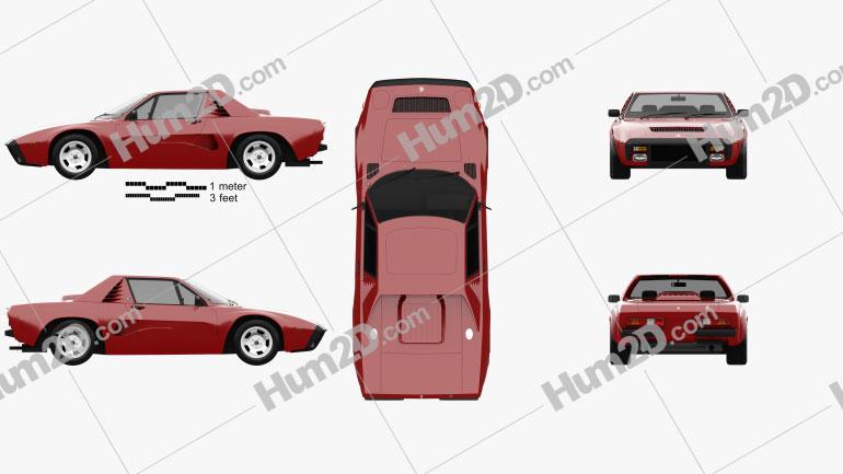 AC 3000ME 1979 car clipart