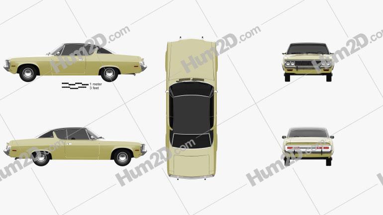 AMC Matador coupe 1972 Clipart Image