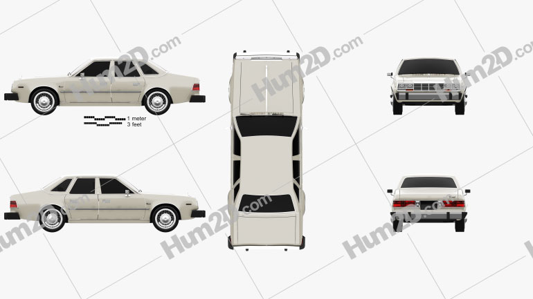 AMC Concord sedan 1980 car clipart