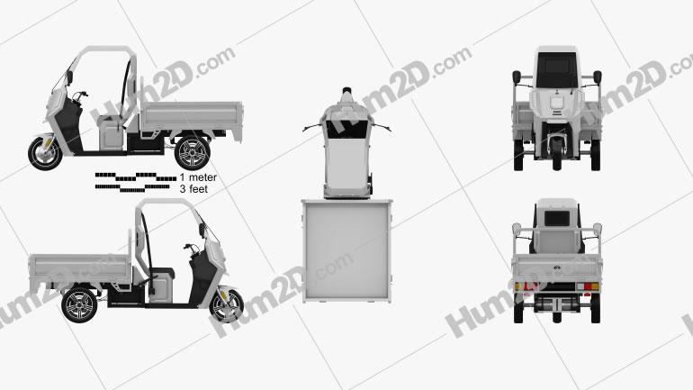 ARI 345 Pickup 2021 Motorrad clipart