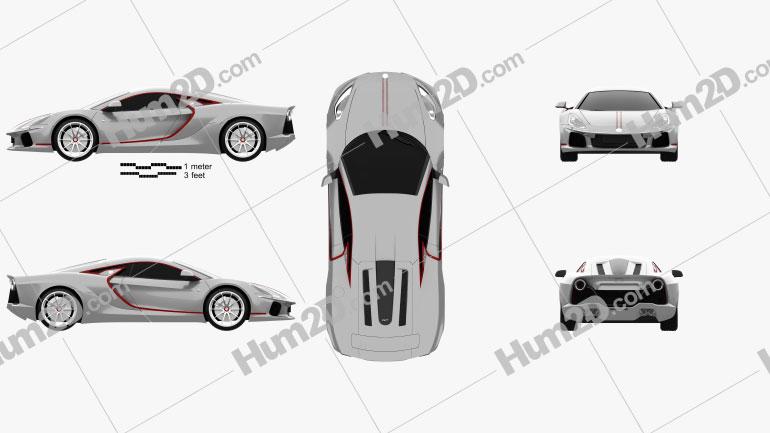 ATS GT 2021 car clipart
