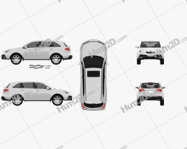 Acura MDX 2011 Clipart