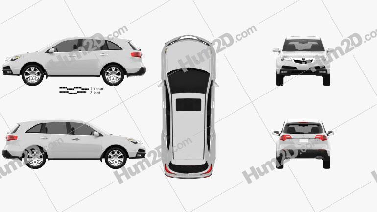 Acura MDX 2011 Clipart Image