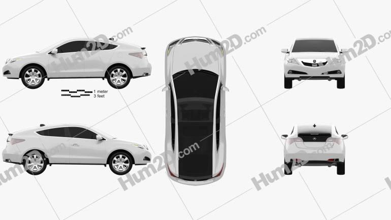 Acura ZDX 2012 Clipart Image