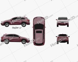 Acura RDX 2013 Clipart
