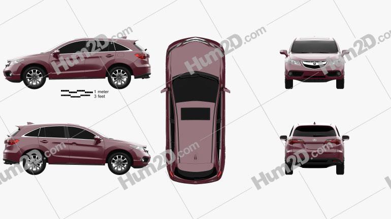 Acura RDX 2013 car clipart