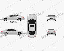Acura RL 2012 Clipart