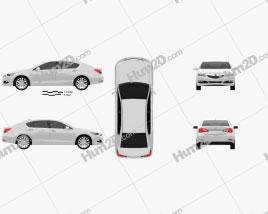 Acura RLX 2013 car clipart