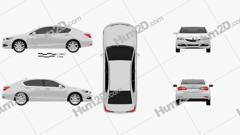 Acura RLX 2013 Clipart Image